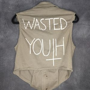 COCO DE COEUR | Wasted Youth Khaki Bomber Vest
